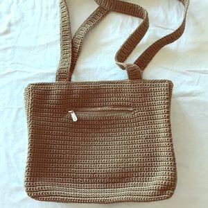 The Sak Crochet Two Strap Shoulder Bag